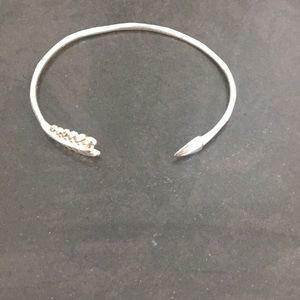 Stella & Dot Silver Arrow Bracelet